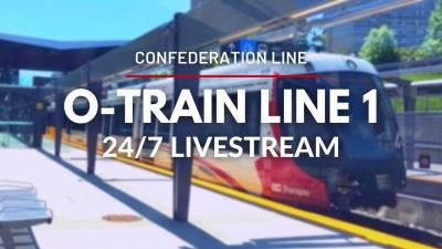 O-Train Line 1 (Confederation Line), Ottawa, Ontario, Canada | 24/7 Livestream!