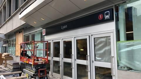 Snapshot of Lyon Station - November 7, 2018