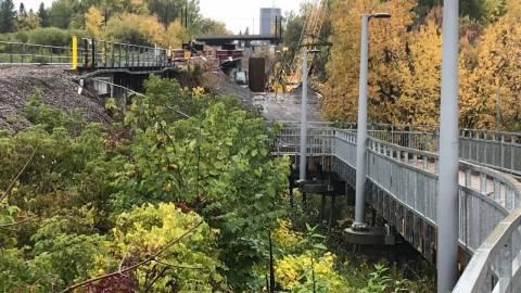 Snapshot of VIA Rail flyover bridge - October 14, 2020
