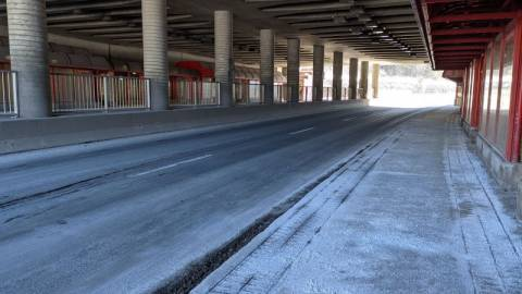 Snapshot of Queensway Station - February 11, 2021