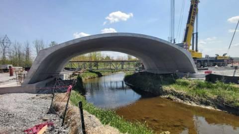 Snapshot of Mosquito Creek Rail Bridge - June 3, 2021