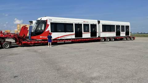 Snapshot of the Alstom Citadis Spirit LRV 1154 - July 6, 2021