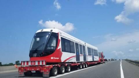 Snapshot of the Alstom Citadis Spirit LRV 1155 - July 22, 2021