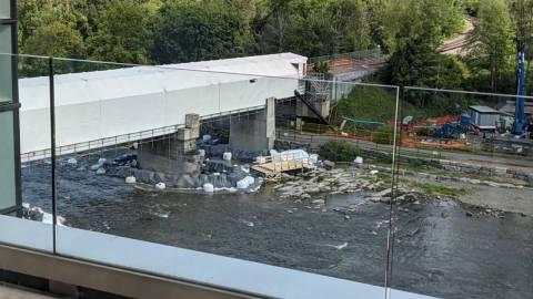 Snapshot of the Rideau River bridge at Carleton - July 28, 2021