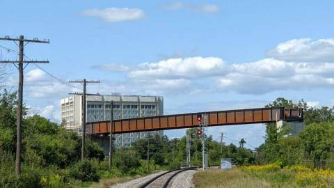 Snapshot of the Ellwood Rail Flyover - August 14, 2021