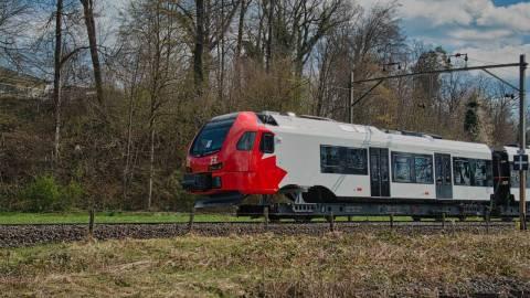 Snapshot of the Stadler FLIRT trains in Switzerland - August 8-9, 2021