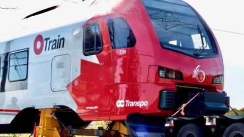 Snapshot of the Stadler FLIRT train C10, outside Walkley Yard MSF - October 7, 2021