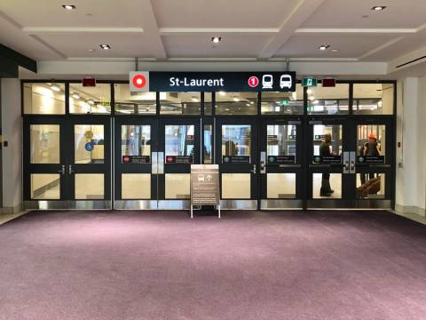 Snapshot of St-Laurent Station - January 10, 2019