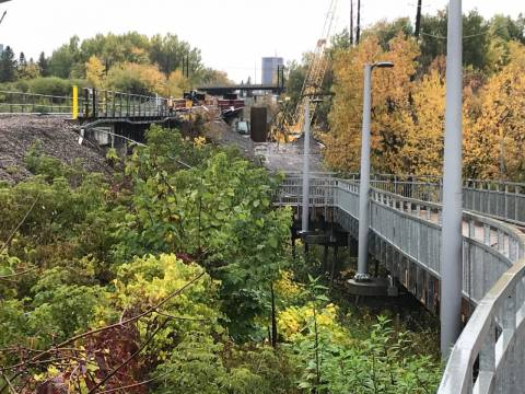 Snapshot of VIA Rail flyover bridge - October 14, 2020