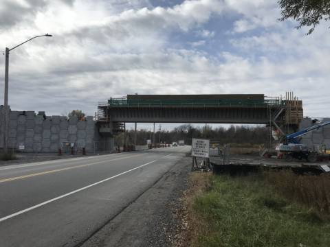 Snapshot of Lester Road Bridge - October 27, 2020