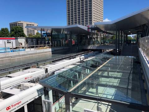 Snapshot of Tunney's Pasture Station - August 10, 2018